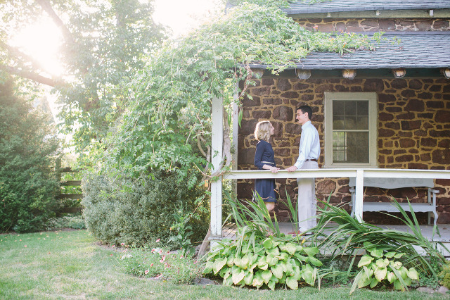 Katie Steve Willowwood Arboretum Engagement Session Northern Va Wedding Photographer